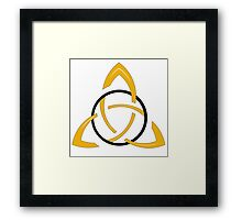 Irish Knot - Triquetra Framed Print