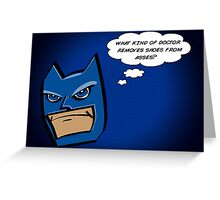 Bat in Thought, What Doctor? Greeting Card