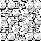 moorish geometric design by tetrahedron