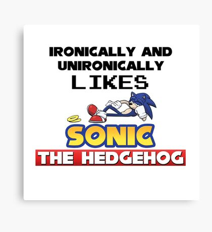 Ironic and Unironic Sonic Love Canvas Print