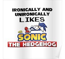 Ironic and Unironic Sonic Love Poster
