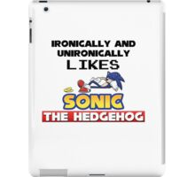 Ironic and Unironic Sonic Love iPad Case/Skin