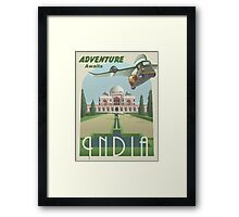 Adventure Awaits in India Framed Print