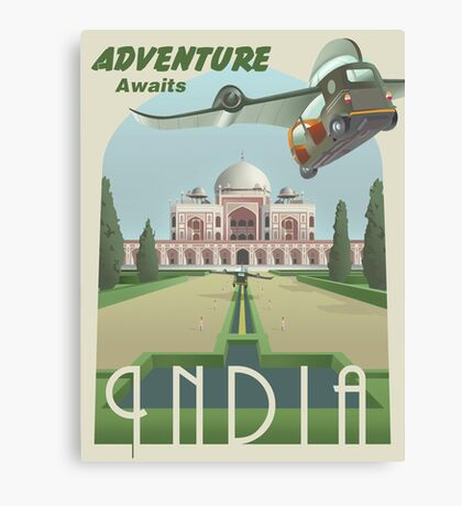 Adventure Awaits in India Canvas Print