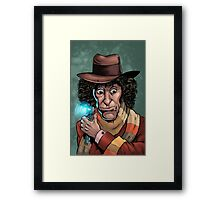 Dr Who Tom Baker Framed Print