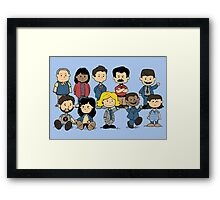 Parks and Rec Peanuts Framed Print