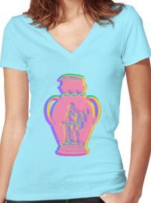 Greek Vase 4 Women's Fitted V-Neck T-Shirt