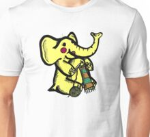 Knitting Elephant Loves Yarn Unisex T-Shirt