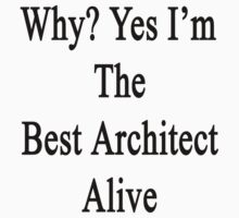 Why? Yes I'm The Best Architect Alive by supernova23