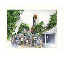 Delta Farmers on a Saturday Art Print