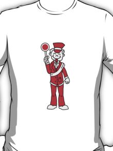 Comic Train Conductor T-Shirt
