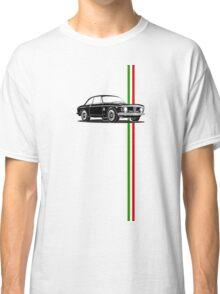 Alfa Romeo Giulia Sprint GTA with Italian flag stripe Classic T-Shirt