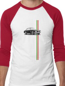 Alfa Romeo Giulia Sprint GTA with Italian flag stripe Men's Baseball ¾ T-Shirt