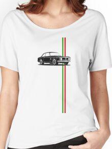 Alfa Romeo Giulia Sprint GTA with Italian flag stripe Women's Relaxed Fit T-Shirt