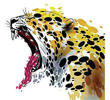 Colorful Jaguar Photographic Print