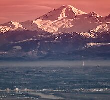 Majestic Mt Baker and downtown Vancouver by Eti Reid