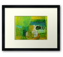 icons in the port Framed Print