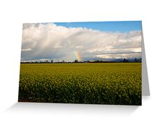 Spring on the farmlands Greeting Card