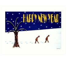 HAPPY NEW YEAR 46 Art Print