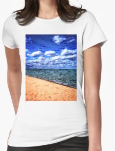 Shores of Lake Superior Womens Fitted T-Shirt