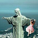 Christ saving a little girl by Dulcina