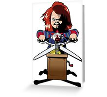 Child's Play 2 (Chucky) Greeting Card