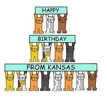 Cats Happy Birthday from Kansas by KateTaylor