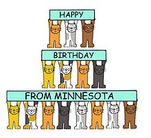 Cats Happy Birthday from Minnesota. by KateTaylor