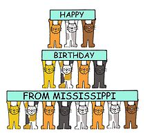 Cats Happy Birthday from Mississippi. by KateTaylor