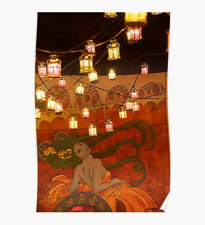 Spiegeltent Lanterns Poster
