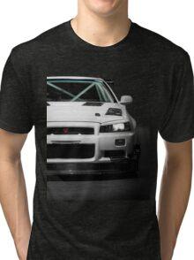 Mat Wootten's Nissan Skyline R34 GTT Tri-blend T-Shirt