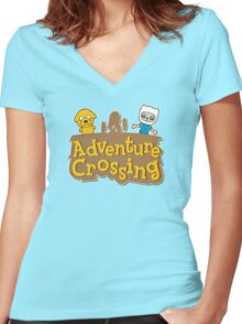Adventure Crossing Women's Fitted V-Neck T-Shirt