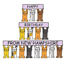 Cats Happy Birthday from New Hampshire. by KateTaylor