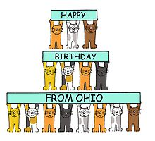 Cats Happy Birthday from Ohio. by KateTaylor