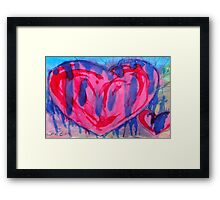 Bleeding Pink & Purple Heart Framed Print