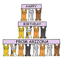 Cats Happy Birthday from Arizona by KateTaylor