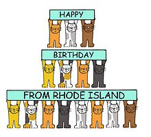 Cats Happy Birthday from Rhode Island. by KateTaylor