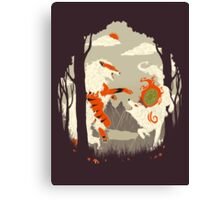 Great Wolves of Fire (Featured on Teefury) Canvas Print