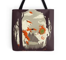 Great Wolves of Fire (Featured on Teefury) Tote Bag