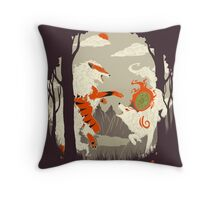Great Wolves of Fire (Featured on Teefury) Throw Pillow