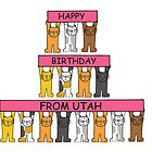 Cats Happy Birthday from Utah. by KateTaylor