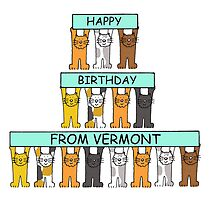 Cats Happy Birthday from Vermont by KateTaylor