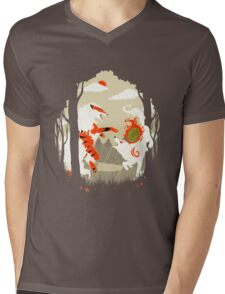 Great Wolves of Fire (Featured on Teefury) Mens V-Neck T-Shirt