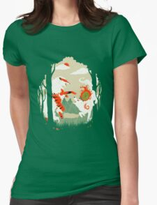 Great Wolves of Fire (Featured on Teefury) Womens Fitted T-Shirt