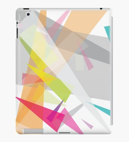 neutral pink and yellow highlights - abstract case design iPad Case/Skin