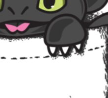 Pocket Toothless Sticker