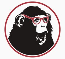 Nerd Ape with Glasses Kids Clothes