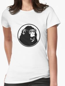 Nerd Ape with Glasses Womens Fitted T-Shirt