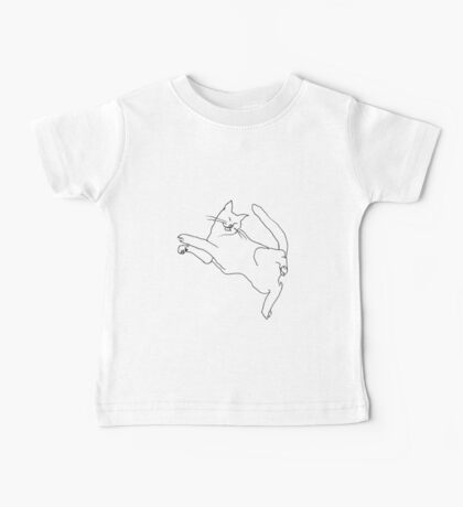 Cat twisting while sleeping Baby Tee
