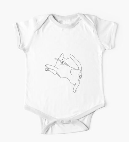 Cat twisting while sleeping One Piece - Short Sleeve
